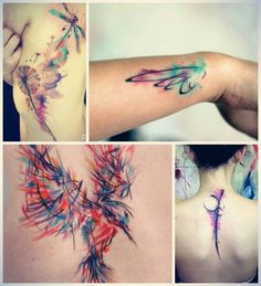Water color tattoos...gotta find someone to do this :/