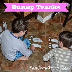 Bunny Tracks... one of our favorite Easter traditions.