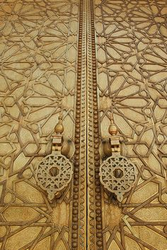 Doors of Royal Palace of Fez, (Dar el Makhzen), Fez, Morocco