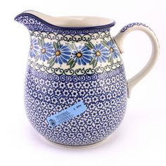 Cool pitcher, isn´t it? See new Polish pottery at http://slavicapottery.com/