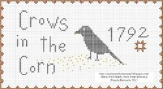Free Fall Pattern~Crows in the corn