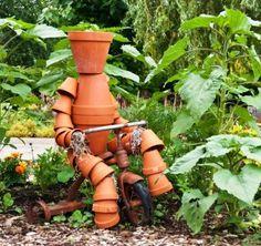 Very Whimsical garden statue