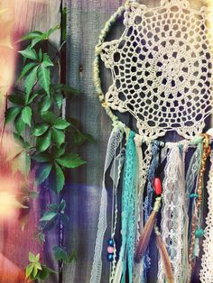 Large Handmade Doily Dreamcatcher vintage by DearSouthernOwl, $40.00