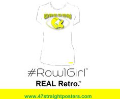 Best ladies gameday fashion. Row 1 Girl™ Oregon Duck vintage tee made from an authentic 1962 Oregon ticket. Gameday fashion tees. #gameday #fashion #Oregon #Row1Girl