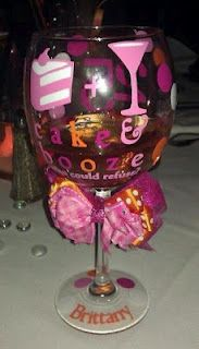 personalized party wine glass