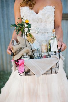 gift basket for guests // photo by Orbie Pullen // http://ruffledblog.com/carmel-valley-ranch-wedding-ideas
