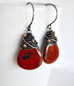 Red Sonoran Sunrise earrings | Kristina Henning