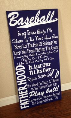Baseball Quote Sign by HandleWithLuv on Etsy, $30.00