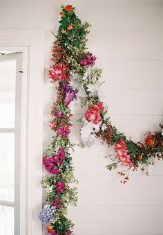 colorful floral garland