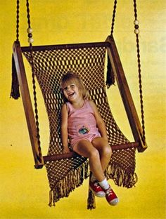 Knot crafts on pinterest macrame macrame patterns and for Diy macrame baby swing