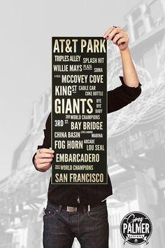 Subway Art San Francisco Baseball At&t Park by GregPalmerDesigns