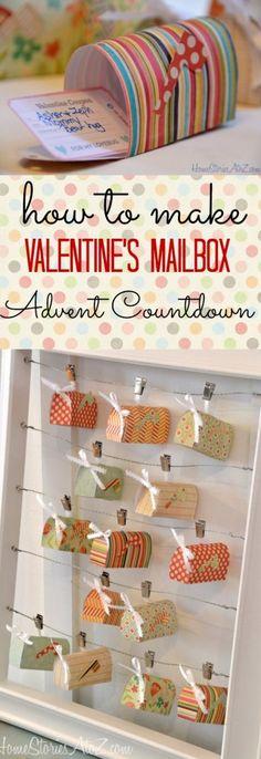 Mailbox Valentine Countdown Calendar.