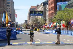 Wesley Korir winner of the 2012 Boston Marathon.