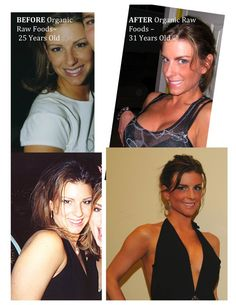 Raw Vegan Before & After :: More of her here: http://www.facebook.com/OpenUpandSayRaw?ref=pymk