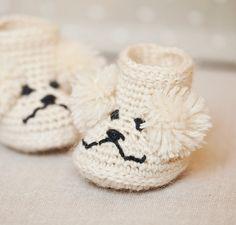 Ravelry: Poodle Baby Boots pattern by Mon Petit Violon.
