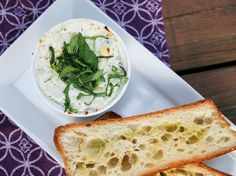 Double Ricotta Dip with Fresh Basil