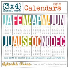 Love these calendar cards!
