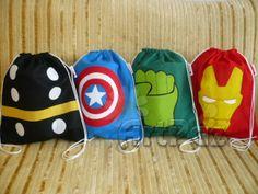 Mochila Vingadores - Super heróis - Thor, Capitão América, Hulk e Homem de Ferro - ArtPaz by Tania Paz