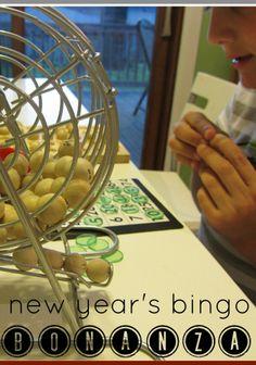 new year's eve bingo bonanza | a fun group game for kids of all ages #newyears #familyfun #weteach