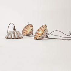 tin light, vintage tins, pendant, christmas lights, lamp