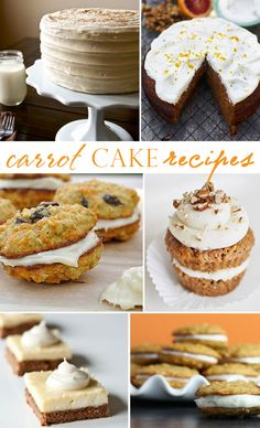 Carrot Cake, Cookies, and Pies Recipes