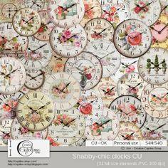 CAJOLINE-SCRAP: Shabby clocks CU