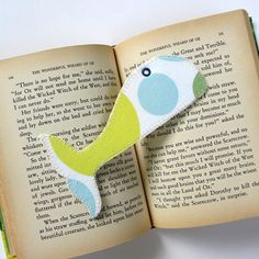 Bookmark Whale Tail Fabric Book Mark by TwiggyandOpal on Etsy, $5.25