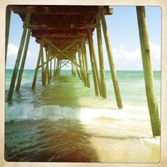 crystal pier. wrightsville beach, nc.