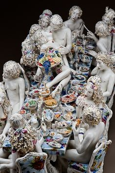 Feast of Impropriety, porcelain figurines by Chris Antemann