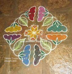 அழியாத கோலம் / रंगोली : Colourful rangoli