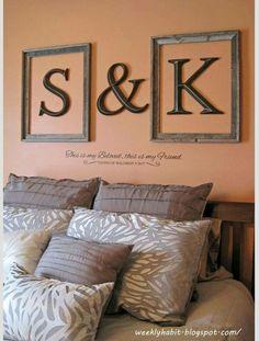 master bedroom decorating, bedroom walls, master bedroom decorations, diy bedroom decor, frame letter