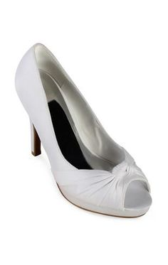 peep toe satin pump with center knot $35.50