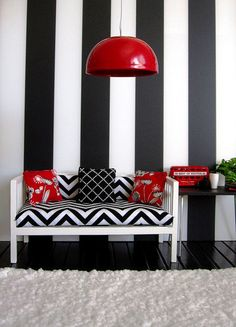 Black, white and red room | Flickr - Photo Sharing!