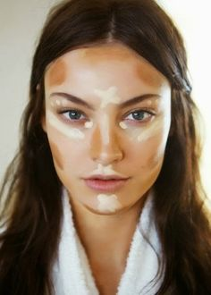 The RIGHT way to contour- it should look like war paint before you blend it, not like you slathered white or dark brown makeup on every inch of your face- if you do that, you end up looking like a drag queen.