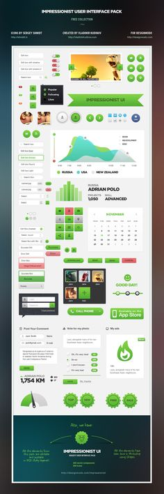 Impressionist UI Free - User Interface Pack