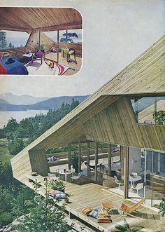 a-frame-like wraparound deck w/ deadly bench (Seattle, WA)
