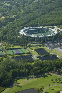Crandon Park Tennis Center (Key Biscayne, Florida).  Attended some great matches.