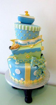 RUB-A-DUB Ducky Baby Shower Cake