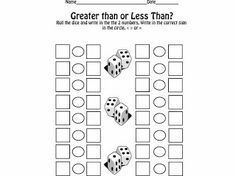 Greater Than Less Than dice game
