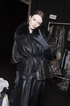All fun backstage at the MILLY Fall 2014 Runway Show
