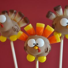 Turkey Cake Pops from Lil Cutie Pops, LLC for $54 on Square Market