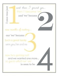 framed pregnancy announcement. I plan to surprise him with this on the wall next time we get pregnant! by lidia