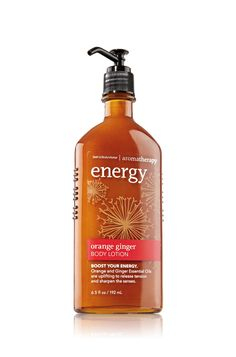 This line smells and feels A-MAZ-ING! Energy - Orange Ginger Body Lotion - Aromatherapy - Bath & Body Works