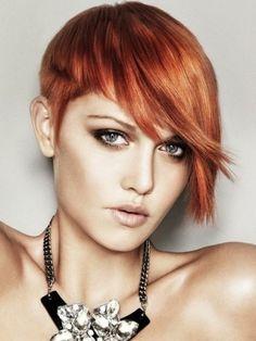 Short hair on redheads