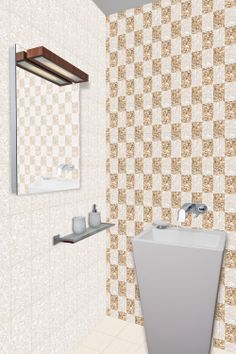Rivers Stone Natural & River Natural Bathroom #Tiles - http://www.orientbell.com/bathroom-tiles.php