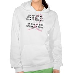 Breast Cancer Awareness Bible Verse Pink Ribbon Hooded Pullovers