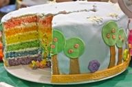 birthday parti, food, rainbow cakes, holy cow, lalaloopsi parti, lalaloopsy party, lalaloopsi birthday, parti idea, parti time