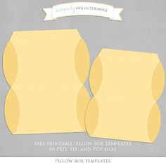 Free printable pillow box templates for packaging small gifts, treats, and party favors
