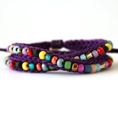 Custom Listing Wrap Confetti Beaded Bracelet by itsmemary on Etsy, $22.00