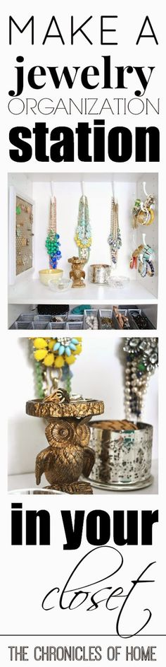 Easy jewelry organization from The Chronicles of Home